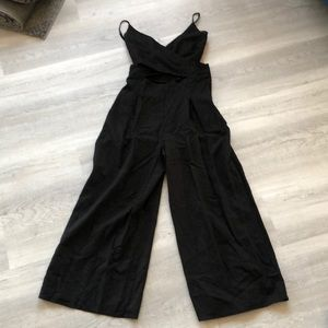 Black jumpsuit with cut outs